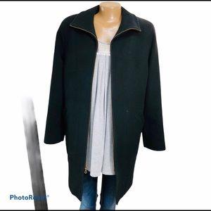 Pendleton Wool Nylon Cashmere ZipUp Black Coat 10